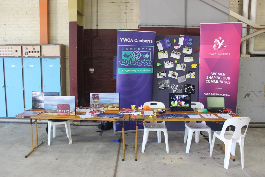 The YWCA Canberra Computer Clubhouse Stall